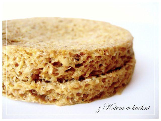 z Kotem w kuchni: Chleb Bez Jajek z Mikrofali - Dieta Dukana