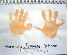 All about me: Lots of book ideas, crafts etc.  Here Are Our Hands