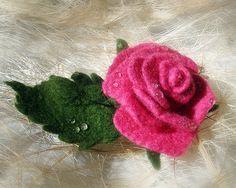 Роза из шерсти цельноваляная - Ярмарка Мастеров - ручная работа, handmade  на сайте