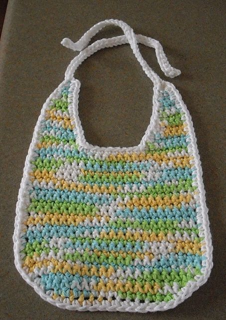 Crochet Cotton Baby Bib Pattern : 1000+ images about Crocheting for Little Ones on Pinterest ...