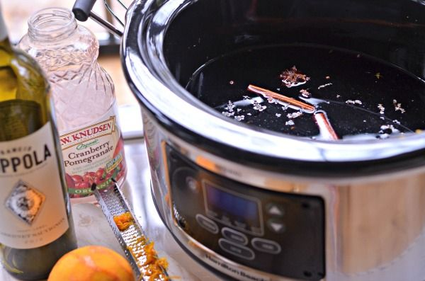 Slow Cooker Mulled Wine - Mountain Mama Cooks