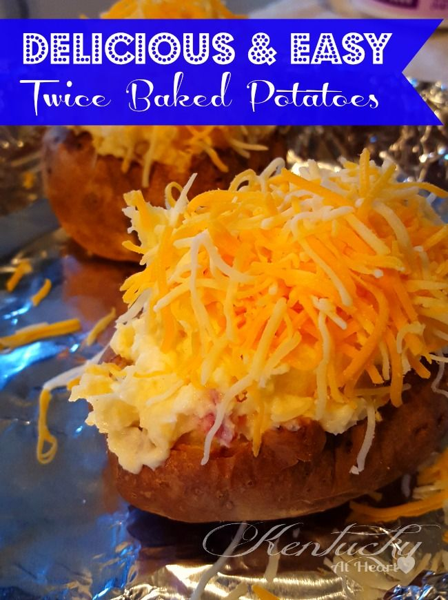 Delicious and Easy Twice Baked Potatoes. These potatoes are so easy and delicious you'll never want a plain baked potato again!