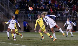 Allie Long scores two as US women's national team thrash Colombia 7-0