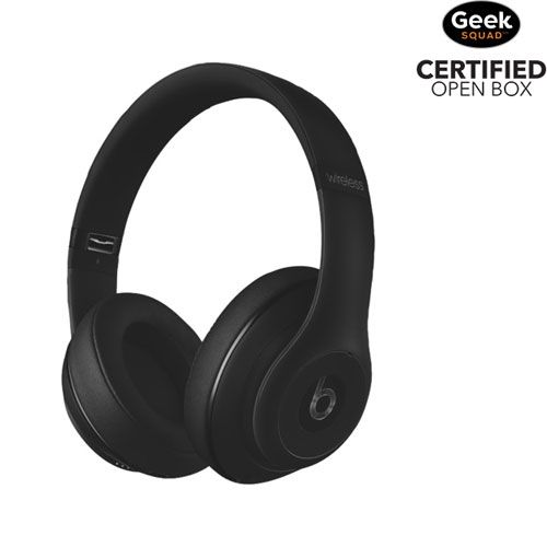Beats by Dr. Dre Studio Over-Ear Noise Cancelling Wireless Headphone - Matte Black - Open Box : Over-Ear Headphones - Best Buy Canada