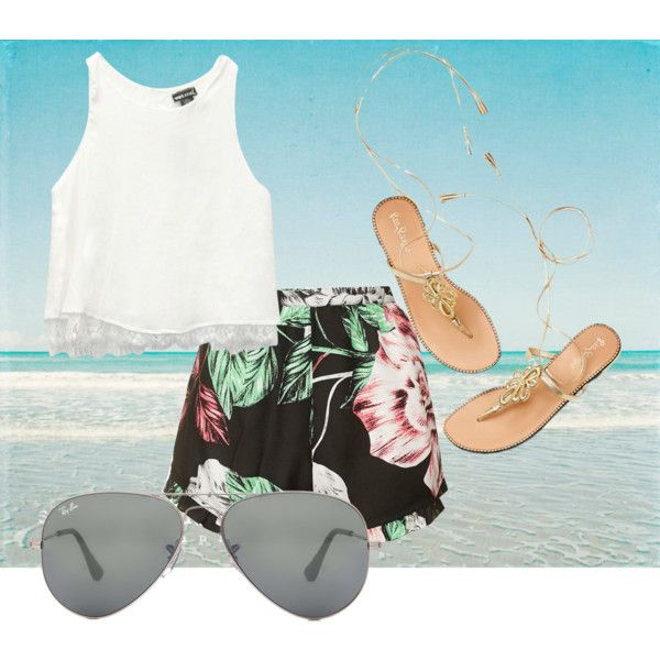 is this my idea of summer? by ilmadhinautari on Polyvore featuring polyvore fashion style Wet Seal Topshop Ray-Ban