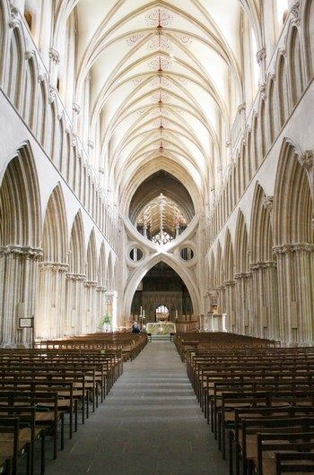 Wells Cathedral - Wells, England---one of the most beautiful, inside and out, 1990