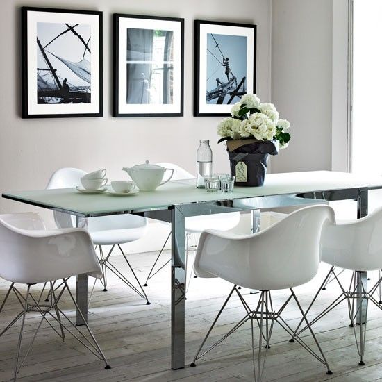 Cool calm dining area | Dining room | PHOTO GALLERY | Homes & Gardens | Housetohome.co.uk