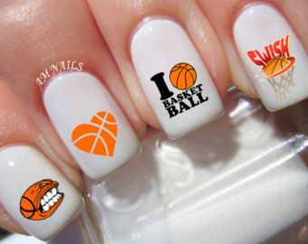 Love Basketball Nail Art Decals by NWDesignStudio on Etsy