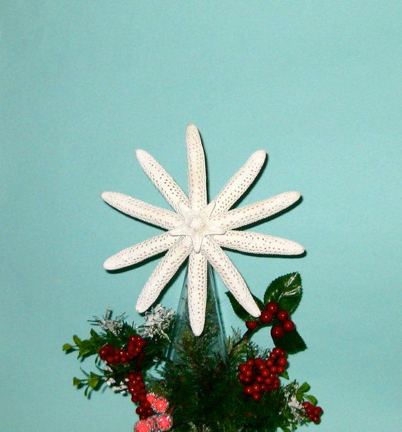 Starfish Tree Topper available Natural with by SeashellCollection