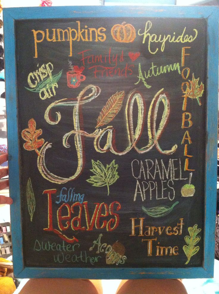 Fall Chalkboard Art Red Apple Designs Amp Ideas For