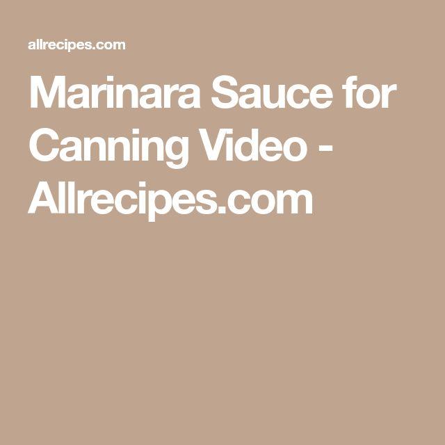 Marinara Sauce for Canning Video - Allrecipes.com