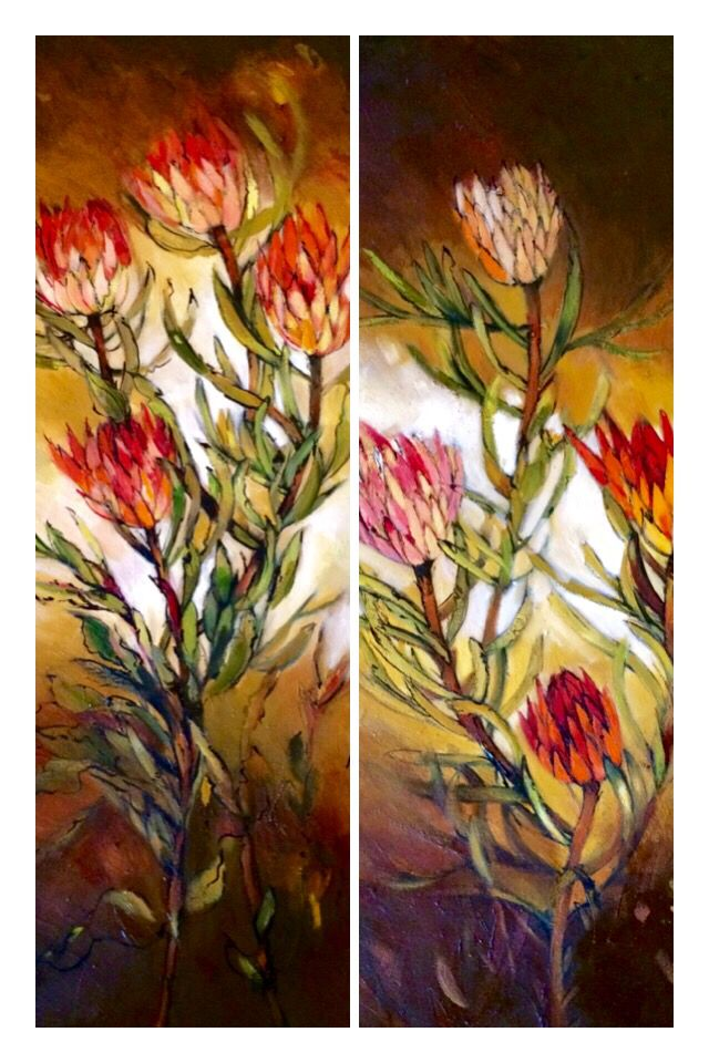 Panels of proteas