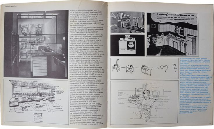 THE SOCIAL USE OF THE KITCHEN (FROM OTTAGONO 48/1978)  An interesting lecture -in Italian- from an almost 35 years old issue of Ottagono, (an Italian architecture and design magazine still living today) about the social history of the relationship between women, work and the domestic environment.    The technological and architectural evolution of the kitc...