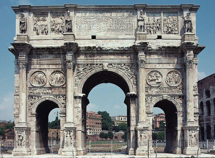 Arch of Constantine, Rome, 312-315 CE