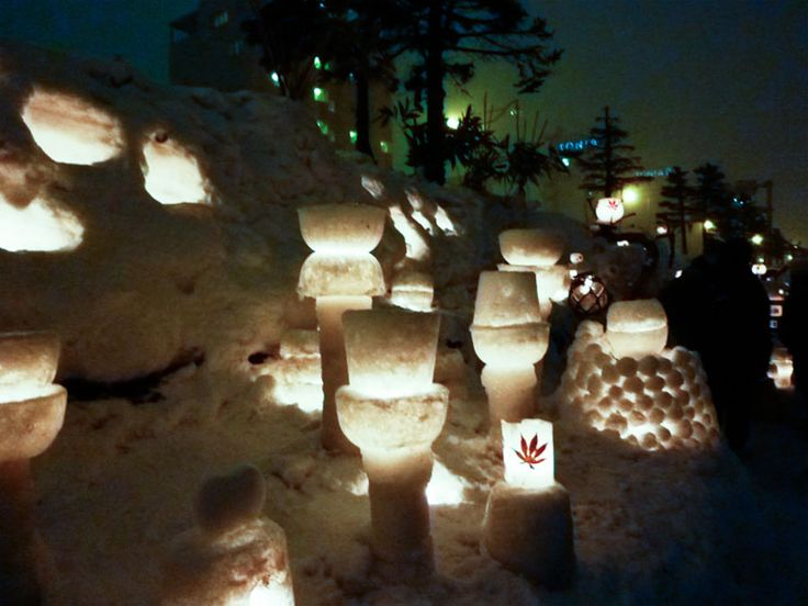 Otaru Snow Light Festival | Places U0026 Spaces | Pinterest | Snow Light, Otaru  And Hokkaido