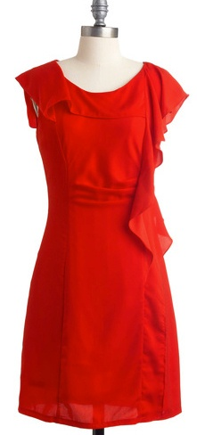 Affordable red bridesmaid dress - What a Woman Dress by Modcloth, $64.99