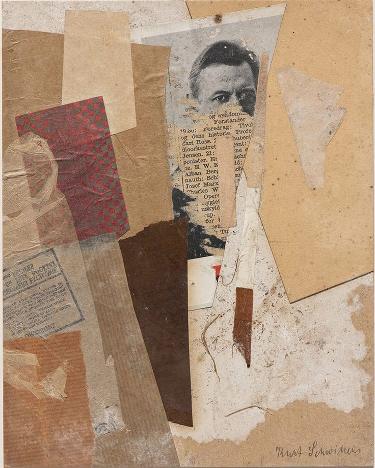 Kurt Schwitters, Untitled (With an Early Portrait of Kurt Schwitters), 1937-8