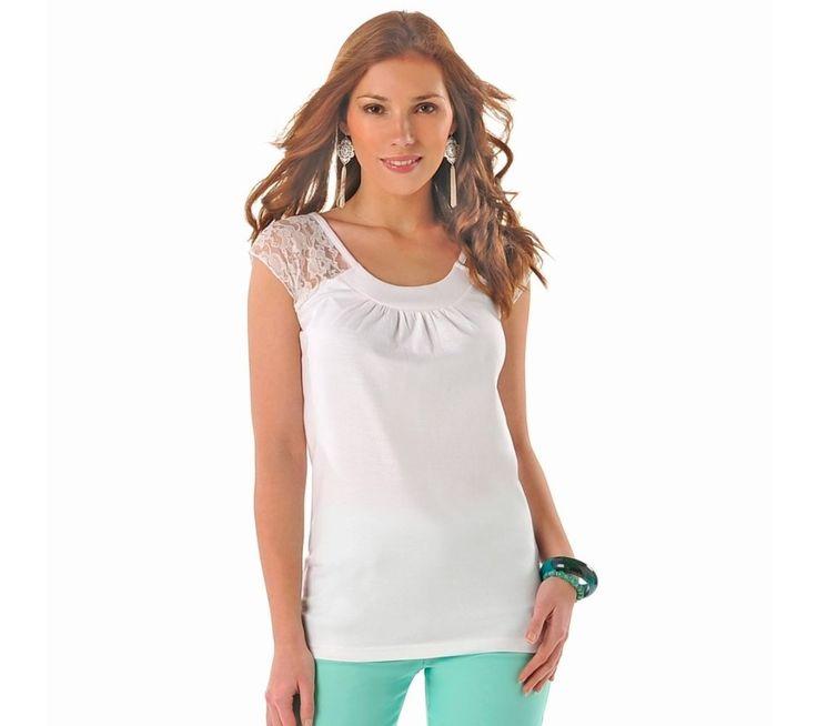 Tričko s čipkovými rukávmi | vypredaj-zlavy.sk #vypredajzlavy #vypredajzlavysk #vypredajzlavy_sk #tshirt