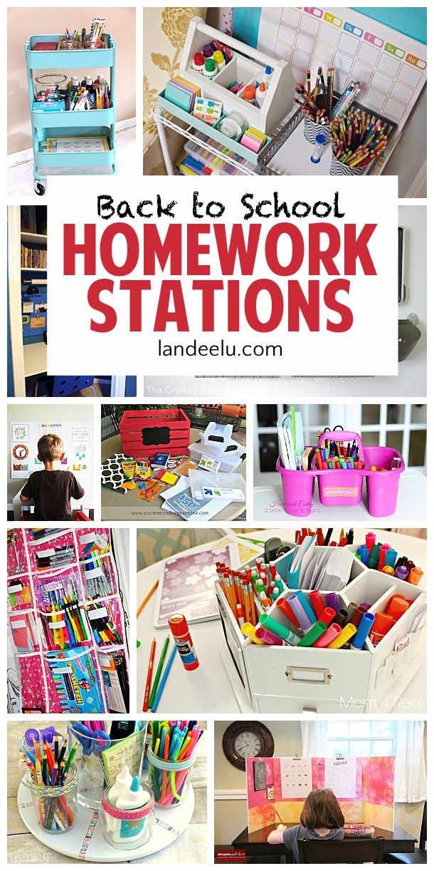 Make going back to school a lot more fun with these awesome DIY homework stations! Keep everything organized and exactly where you need it!