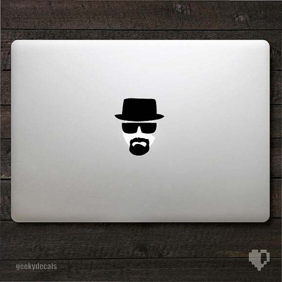 Breaking Bad Macbook Decal.Macbook Stickers, Macbook Decals, Heisenberg Decals, Bad Macbook, Heisenberg Macbook, Decals Macbook, Bad Inspiration, Inspiration Heisenberg, Breaking Bad