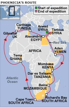 The Phoenician's route around Africa