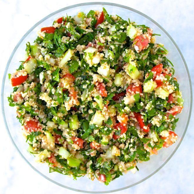 Classic Tabbouleh - A Favorite Mediterranean Salad [via greektomato.com] #oliveoil #recipe