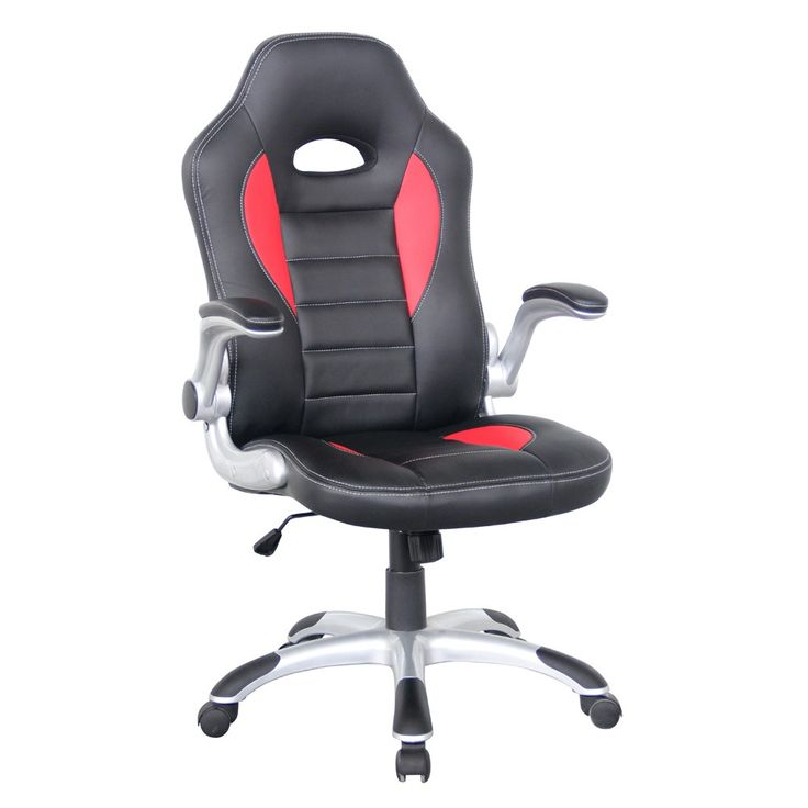 Contoured Seat Pad With Slight Waterfall Front, Free UK Mainland Delivery  On Rocaro Leather Faced Office Chair.