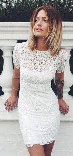 #spring #fashion #outfitideas | Little White Dress | Caroline Receveur & Co