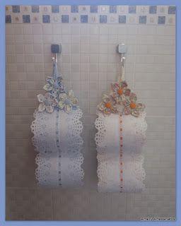 AnaLu Artesanatos: Porta papel higiênico com Fuxicos