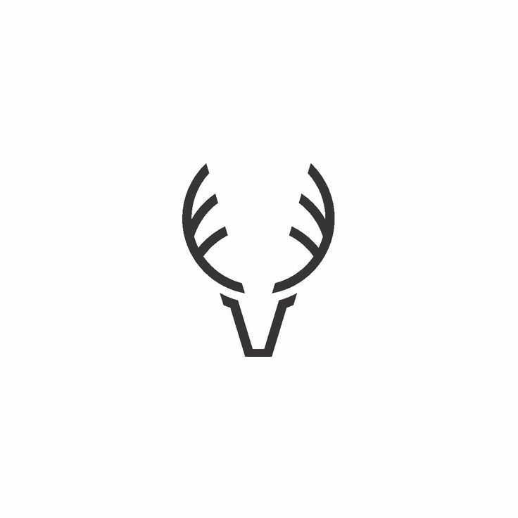 Logo design by Bull-Stark  Logo design for destination-brand Sanderstølen in Norway. Designing the logo by basic shapes, to create this minimalistic reindeer logo.