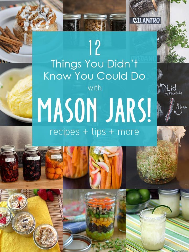 12 Things You Didn't Know You Could Do with Mason Jars