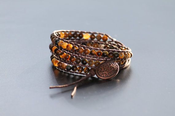 I have another bracelet in my shop. Check it out! Leather bracelet with lots of small tiger eye by DeaJewelleryStore