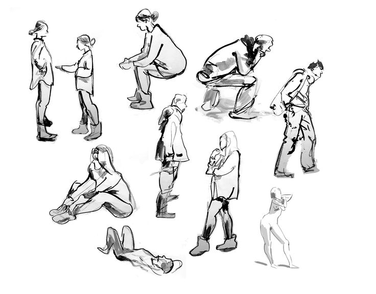 Janez Plesnar, 1 min gesture drawing, illustration, 2017