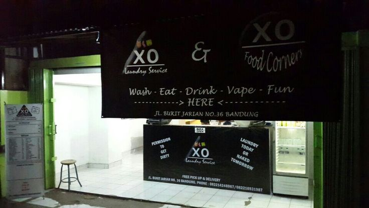 XO Laundry Service and Food Corners! Laundry-Food-Vape store-Movie Showing U'll never get bored at here!