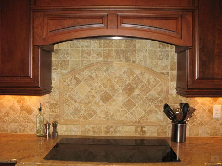 Travertine Backsplash Kitchen Makeover Pinterest