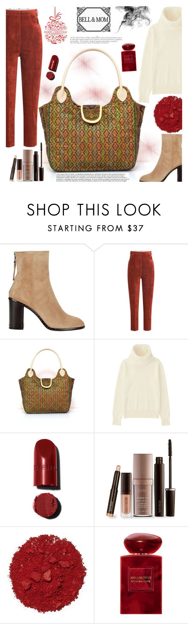 """BELL&MOM"" by gaby-mil ❤ liked on Polyvore featuring rag & bone, Golden Goose, Uniqlo, Anja, Laura Mercier, Illamasqua, Giorgio Armani, handbag, handmade and bellandmom"