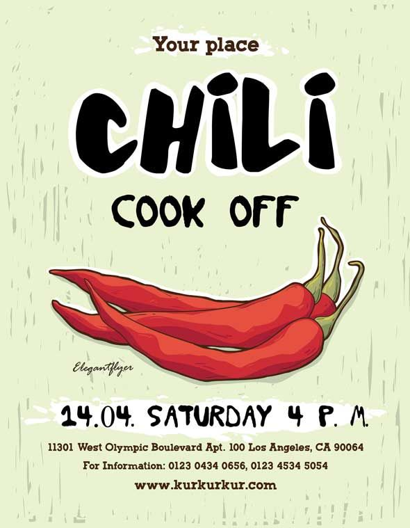 Check Out The Chili Cook Off Free Flyer Template Only On Https Freepsdflyer Com Chili Cook Off Free Flyer Templa Chili Cook Off Cook Off Free Flyer Templates