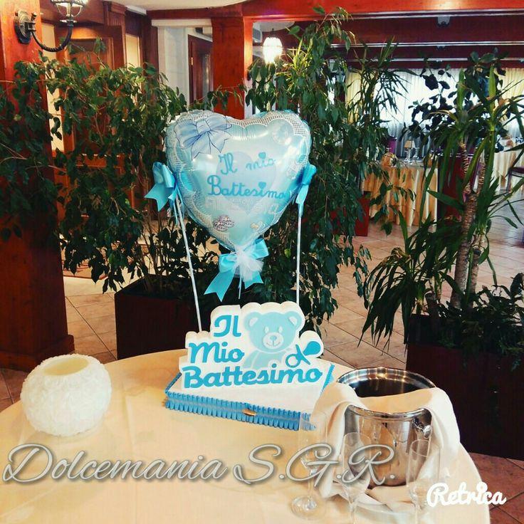 #dolcemania #palloncino #puglia #battesimo #centrotavola #cuore #gargano #balloons #balloon #celeste #polistirolo #idea #allestimenti #foggia