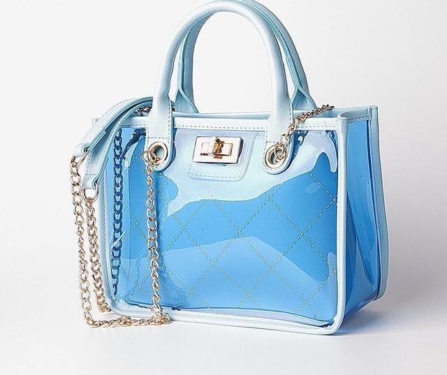 transparent tote bag coutureenvyboutique transparent clear jelly handbag purse bags bags purses purses crossbody pinterest