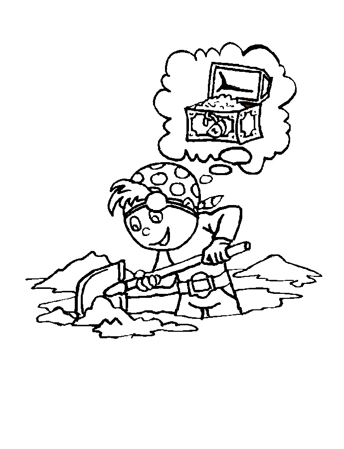 pirate coloring pages elementary - photo#1