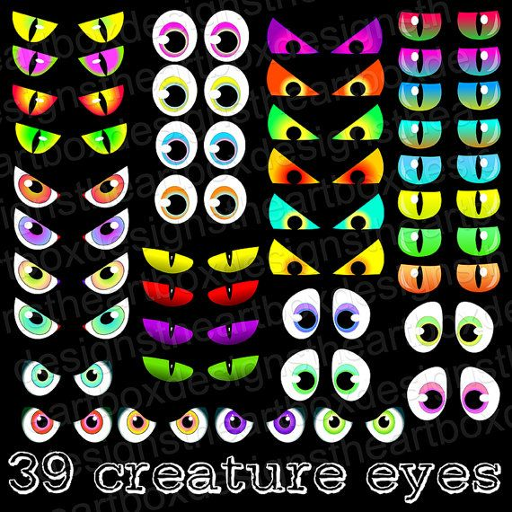 Spooky Eyes Clipart 39 Halloween Eyes Clipart by TheArtBoxDesigns, $4.50