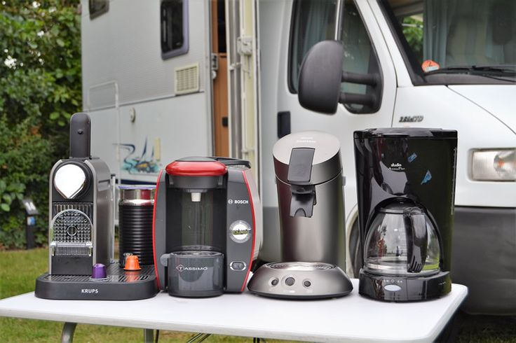 Kaffeemaschinen im Test Nespresso, Tassimo, Senseo und normale Kaffeemaschine im Wohnmobil
