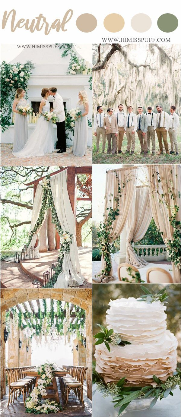 Wedding Color Trends 2019 45 Neutral Spring Wedding Color Ideas