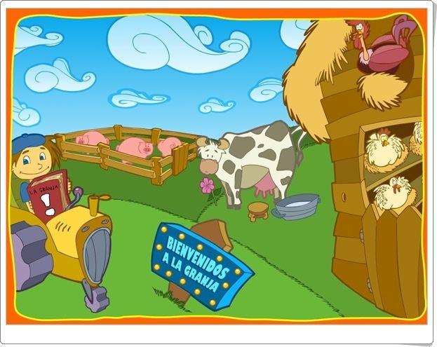 """""""Bienvenidos a la granja"""" (Unidad 3 del conjunto de aplicaciones de """"argentina.aula365.com""""), es una atractiva actividad interactiva para el Segundo Ciclo de Educación Infantil, especialmente para el nivel de 5 años, que promueve en variadas tareas el aprendizaje de las características de los animales de granja, su diferencia con los animales salvajes y productos que se obtienen de ellos, además de la iniciación en el conocimiento de la numeraión del 1 al 10."""