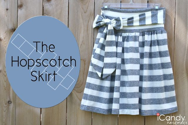 Very cute! I should make this- skirts are so fun to wear in the summer.: Icandi Handmade, Skirts Tutorials, Hopscotch Skirts, Jersey Skirts, Stripes Skirts, Summer Skirts, Striped Skirts, Skirts Patterns, Cute Skirts