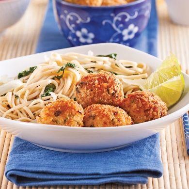Boulettes de crevettes au gingembre - Soupers de semaine - Recettes 5-15 - Recettes express 5/15 - Pratico Pratique