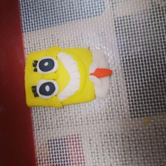 Sponge bob fondant topper