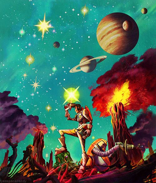 Space Dandy, I just started watching this show and it is amazing! God it is so funny. I loved Cowboy Bebop so I was very excited to see Space Dandy :D