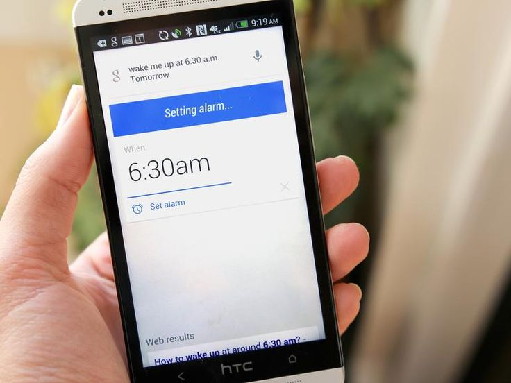 "Set an alarm When you're too drowsy to set an alarm, let Google Now do it. Just say something like, ""Wake me up at 5:30 a.m. tomorrow"" and the alarm will be set."