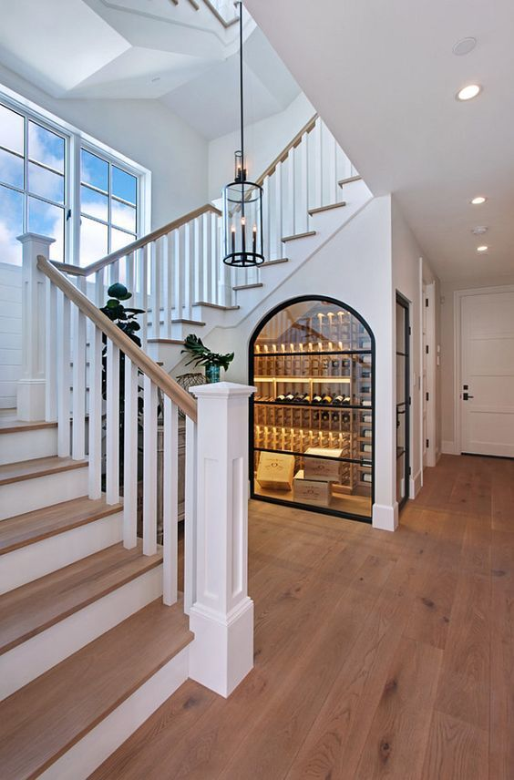 A Wine Cellar Under The Stairs?! Yes Please!